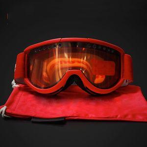 Vente en gros-Marque Lunettes Tpu sable contrôle protéger les yeux Lunettes de Ski En Plein Air Ski verre de mode populaire avec Rouge Noir Bleu Couleur 55hg J1