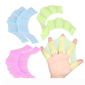 1 Pair Silicone Swim Gear Fins Hand Web Flippers Training Diving Gloves Webbed Gloves for Women Men Kids Swimming tool MY113