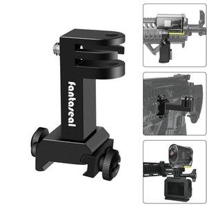 Action-Kamera Seiten Lafette Picatinny Schienen-Adapter-Kit für Gopro Held SONY HDR FDX Jagdgewehr Pistole Carbine Airsoft T200620