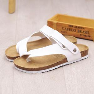 Sıcak Satış-Yeni Yaz Plaj Mantar Terlik Sandalet Casual Çift Toka Takunyalar Sandalias Kadınlar erkekler Terlikler Flats Ayakkabı Slip