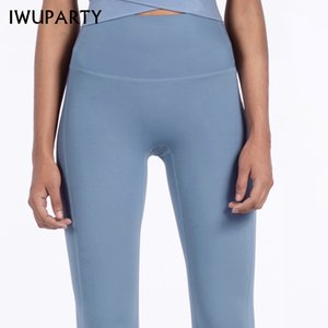 IWUPARTY High Waist Stretch Gym Leggings Solid Patchwork Sports Leggings Running Girls Slim Fitness Long Tights Yoga Pants Women Y200529