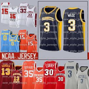 3 Dwyane NCAA Marquette Golden Eagles Wade Jersey Steve Santa Clara Nash Lebron James Morant Ja Curry Durant