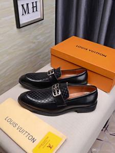 20FW italienischen Luxusmarken für Männer kleiden Schuhe Oxford-Schuhe für Männer brogues zapatos de hombre de vestir formale sapato soziale masculino YETC5