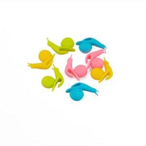 Tea Bag Holder Cute Snail Shape Silicone Holder Carton Shape Candy Colors Set Tea Tools Tea Infuser IIA19