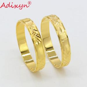 Adixyn декоративный узор Baby браслет цвета золота 7,5 $ / 2pcs Dubai Bangles For Baby / Дети Trendy Африканский араб ювелирные изделия