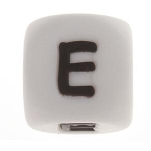 Fkisbox 200pcs Nome do alfabeto de silicone Inglês Cartas Beads Cube BPA Free Baby Teethers personalizado DIY Rodent dentição Pendant