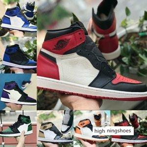 2019 alto 1 OG TOP 3 vietati l'allevamento scarpe da basket delle donne metà degli uomini Reale Blu nuove 1s broken tabellone rosso e punta bianca
