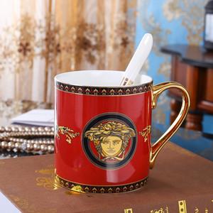 simplicité classique tasse en céramique tasse de café de couleur rouge tasse de lait tasse en porcelaine Bone petit-déjeuner tasse grande tasse capacité cadeau Creactive