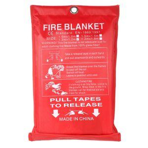 1м х 1 м герметичный огонь одеяло дома безопасности боевые пожарные огнетушители палатки катера экстренные выживания пожарное укрытие безопасности