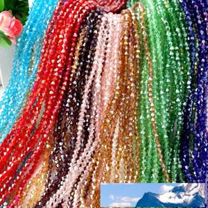 بالجملة! 4MM الأوجه والزجاج والكريستال 5301 # الخرز Bicone، والمجوهرات DIY U اختيار اللون