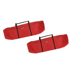 2pcs Large Zippered Storage Bags for Camping Tent Organizer, Foldable Table Carrying, Fishing Gear Carrier, Portable