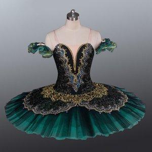 AP043 взрослый черный золотой La Esmeralda балетная пачка выступление профессиональный классический балет пачки девушки блин пачка Щелкунчик танцевальная пачка
