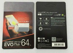16G / 32GB / 64GB / 128GB / 256GB EVO + PLUS Micro SD CARD U3 / Smartphone TF Tarjeta TF C10 / Tablet PC Tarjeta de almacenamiento SDXC 95MB / S
