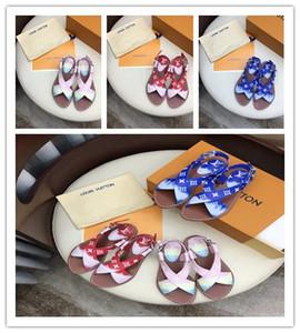 Hot New 2020 mujeres ESCALE PALMA FLAT zapatillas de mujer STARBOARD sandalias moda casual niñas rojo blanco tamaño de calidad superior 34-42 con caja