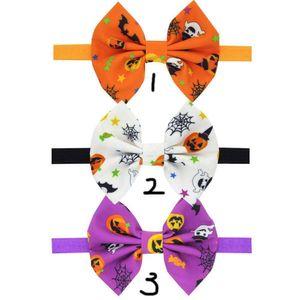 Halloween Kürbis Druck Stirnbänder Elastizität Baby Mädchen Bogen Haarband Kinder Haarschmuck Boutique Halloween Dress up Kopfschmuck