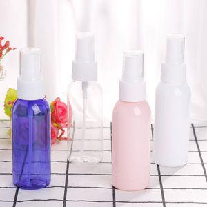 50ml Sanitizer Spray bottiglia vuota bottiglie di lavaggio a mano in plastica PET Mist Spray Bottle pompa per uso personale fai da te FFA3895 bottiglia vuota