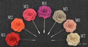 Pinos Broches Artesanais Frisado Flor Sentiu Flor Lapela Pin Boutonniere 14 Cores Vara Pin Acessórios de Vestuário Pin Frete Grátis