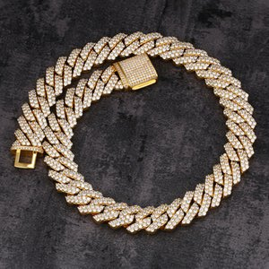 20mm Prong Diamond Ice Out Hip Hop Jewelry Cuban Link Chain Heavy Jewelry For Hip Hop Men And Women