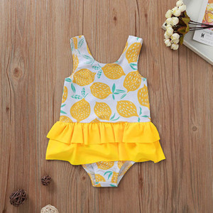Infant Baby Kids Girls Swimsuit Angle Wing Lace Suspender Rompers One-piece Swimsuit with Cap Girl Childrens Swimwear
