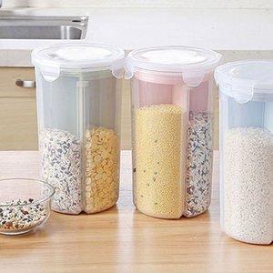 Riso fagioli Storager Vaso Con guarnizione del coperchio 4 Griglia Frigorifero Preservation contenitore di plastica da cucina Storage Box nuova