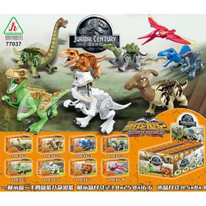 8 adet / grup Jurrassic Dünya Jurassic Dinozor Şekil Seti Çocuklar Için Hayvan Yapı Taşları Setleri Oyuncaklar Çocuklar Için Y190606