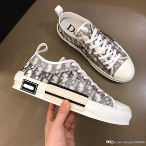 mens 19 zapatos de diseño B23 OBLICUOS suela de goma-top deportivos zapatos corrientes de los zapatos de plataforma de la moda de los hombres fendS1