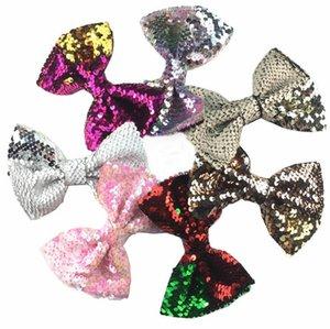 Bebé novo 5inch clipes Gradiente Sequins bowknot presilhas de cabelo meninas arcos de cabelo Barrette meninas Crianças Acessórios 18 Cores A231