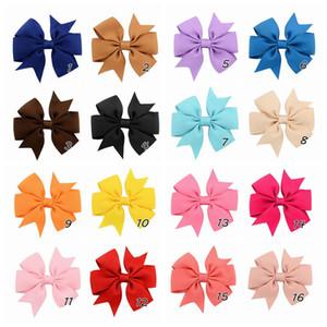 DHL gibt 40 Farben nette Bogen Spangen Kinder hairclip Normallack fishtail Hairpin Mode Haar-Accessoires für Kinder zu beugen