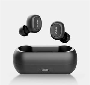 QCY QS2 T1S TWS Bluetooth 5.0 auriculares para juegos de auriculares estéreo 3D Deportes auriculares inalámbricos auriculares con micrófono dual con la caja al por menor