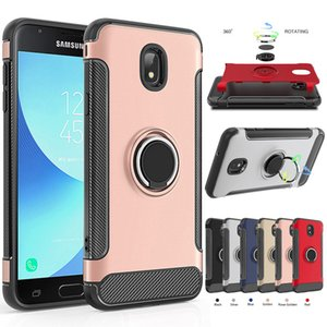 2in1 Armor Ring Stand Magnet Case Back Cover for Samsung Galaxy J3 2018 / Eclipse 2 / Achieve / Aura / Amp Prime 3 / Sol 3 / Express Prime 3