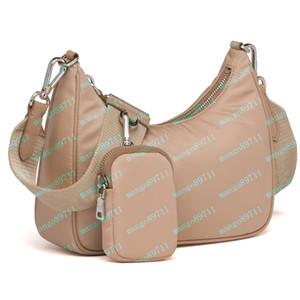 Bolsos de hombro de la moda de Lady pechera totalizador de las mujeres del bolso 2005 Cadenas material de nylon bolsas de mano bolsos del monedero