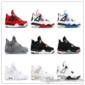 Los zapatos de baloncesto del Mens Nike Air Jordan 4 Motorsport puro moeny derechos Kaws zapatillas de deporte para mujer de los zapatos zapatillas de deporte de los zapatos