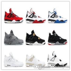 Nike Air Jordan 4 Hommes Chaussures de basket Motorsport pur moeny Libre de Kaws Chaussures Femmes Sport Chaussures Sneakers Chaussures de course