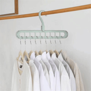 9-hole Space Saving Hanger 360 rotating magic hanger multi-function folding magic hanger wardrobe drying clothes clothes storage