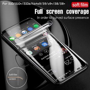 Полноэкранный защитник для Samsung Galaxy S21 S20 S20PLUS S20 Ultra Note20 Ультра Note10 S10 Plus Full Cover Protectiv Film не закаленное стекло