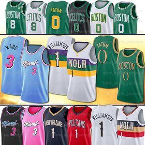 2020 Zion NCAA Williamson Jeresy Duke Dwyane Jayson Tatum Kemba Wade Walker Erkekler çocuklar Basketbol Formalar