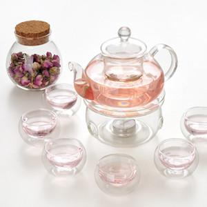 Transparant Teapot Handmade Heat-Resistant Borosilicate Glass Thick Tea Pot Filter Chinese KungFu Tea Teapot Scented Afternoon Tea