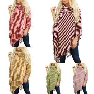 5 Farben-Halstücher Mantel-Kap Frauen Pashmina Baumwolle Winter-Tassel Decke Schal Batwing Sleeves-Mädchen-Damen Schal-Halstuch