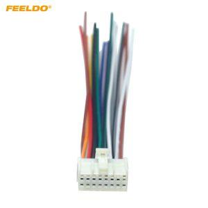 FEELDO 자동차 스테레오 라디오 16 핀 와이어 하네스 미쓰비시 / 랜서 / 포드 관련 설치 오디오 배선 케이블 # 5714