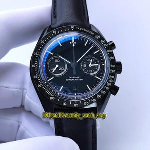 Version Super Moonwatch 311.92.44.51.01.004 (nuit obscure) boîtier en céramique date Cadran Cal.9300 Chronographe automatique Mens Watch Designer Montres