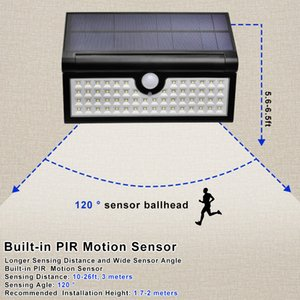 42 Işık Katlama Sensörü Duvar Işık IP65 su geçirmez LED Lamba Bahçe, Teras, Merdivenler, lighing için Pasajı