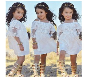 Lace Flower Girls Dress Princess Kids Baby Party Wedding Pageant Beach Clothes