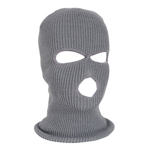 NEW Full Face Mask Ski Mask Winter facemask Cap Balaclava Hood Army Tactical 3 Hole cycling winter #4n26