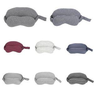 2 в 1 хлопок путешествия шеи подушка + маска для глаз с ручкой ремень портативный удобная ручная стирка памяти U подушка
