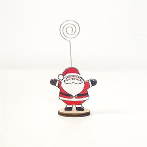 12pcs Christmas Desk Memo Photo Stand Holder Cartoon Card Note Clips for Home Office Party (Penguin + Snowman + Deer + Santa)