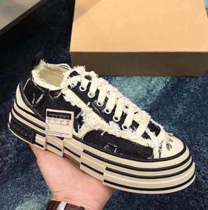 Zapatos casuales XVessel G.O.P. Lows Canvas Shoes Hombres Mujeres Diseñador de moda de alta calidad Vessel Tripe S Piece by Piece Speed shoes er74