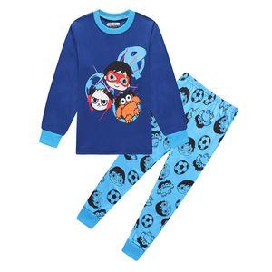 Мир малышей мальчиков Детские Мальчики Райана игрушки Review Рождество Пижама Райана Xmas Пижамы PJs Tops Дети Дети Sleepwear Pijamas коротышек