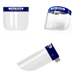 Masques transparent boucle Protection faciale Cover visage anti-poussière Cracher éponge Goggle Clear Frame Masque 100pcs LJJP67-1
