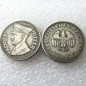 H (37) Alemania Monedas Conmemorativas 1945 monedas de la copia Brass Craft Adornos
