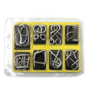 IQ Metal Wire Puzzle Mind Rompicapo Magic Wire per adulti Bambini Classic Ring Puzzle cinese Giocattoli educativi Set